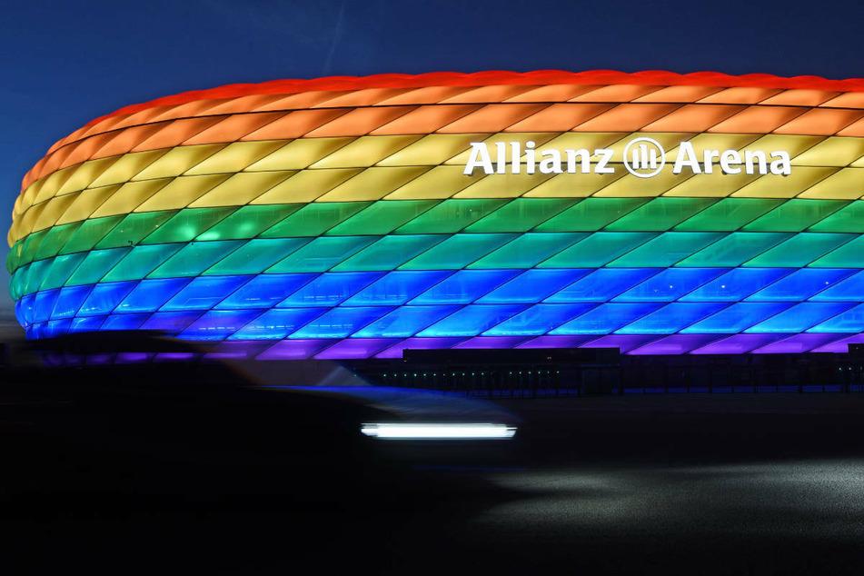 Eine in Regenbogen-Farben leuchtende Münchner Allianz-Arena wird es zum EM-Spiel am Mittwoch nicht geben.