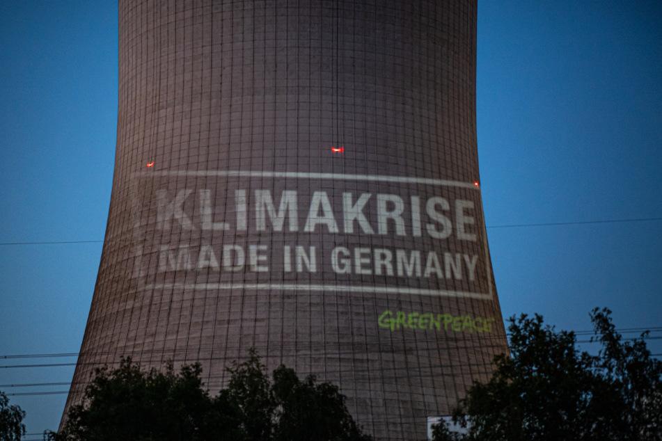 Greenpeace prangerte das Kraftwerk bereits mit dieser Aktion an.