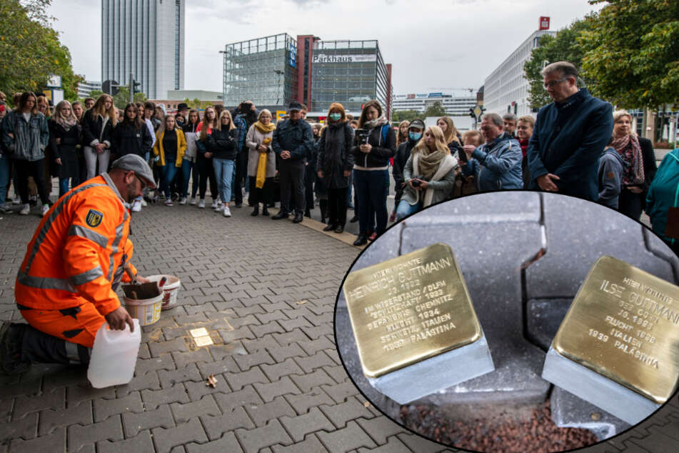 Frisch verlegt: Chemnitz hat 16 neue Stolpersteine