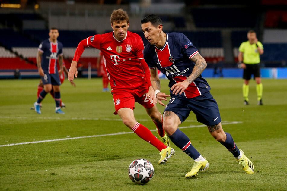 Thomas Müller (l.) und der FC Bayern München konnten gegen Paris Saint-Germain zwar 1:0 gewinnen, im CL-Halbfinale stehen aber die Franzosen.