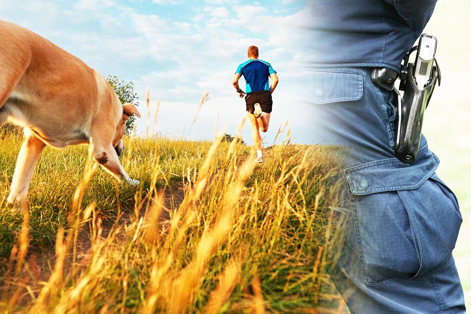 Typ geht mit Hund joggen, dann zieht ein Polizist seine Waffe!