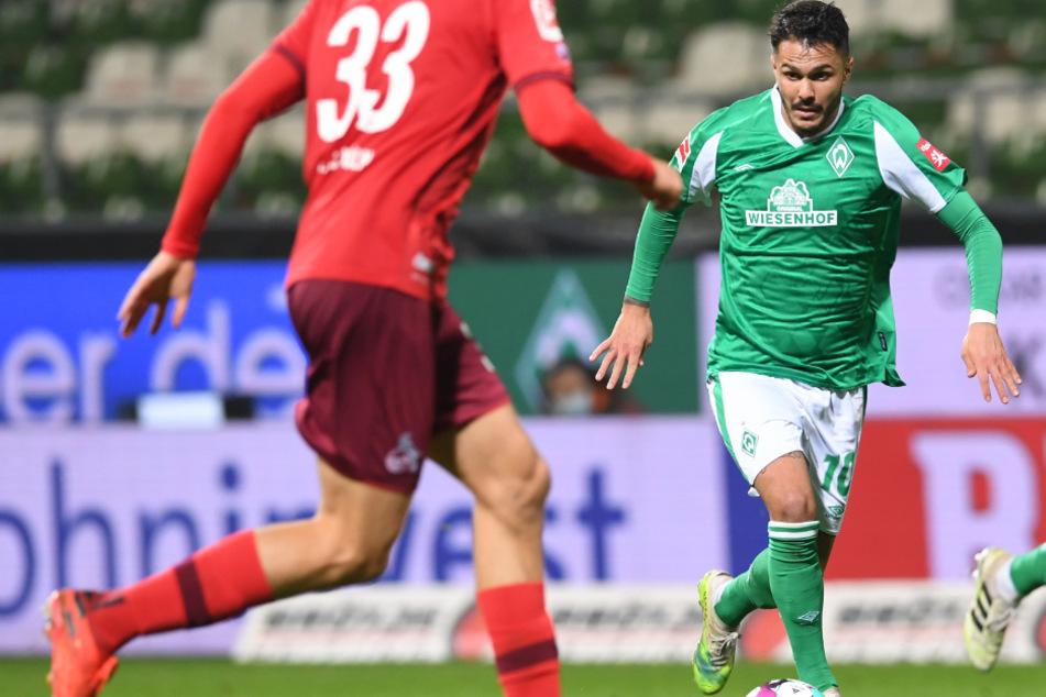 Leonardo Bittencourt (27) spielt seit 2019 für Werder Bremen. Zuvor stand er drei Jahre lang beim 1. FC Köln unter Vertrag.