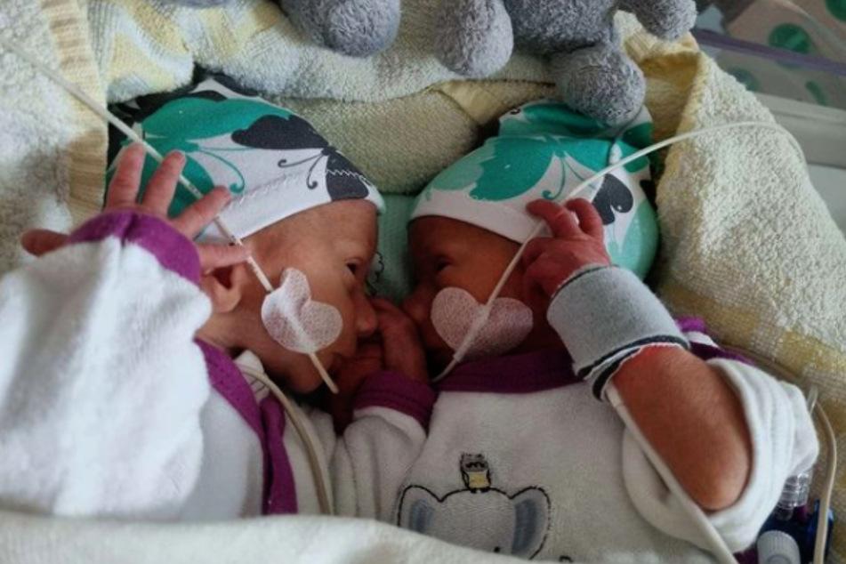 Die Babys Emory und Casey sind der ganze Stolz von Sarafina (26) und Peter Wollny (28).