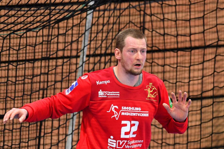 Mit der Einwechslung von Keeper Mario Huhnstock kam mehr Sicherheit ins Dresdner Team.