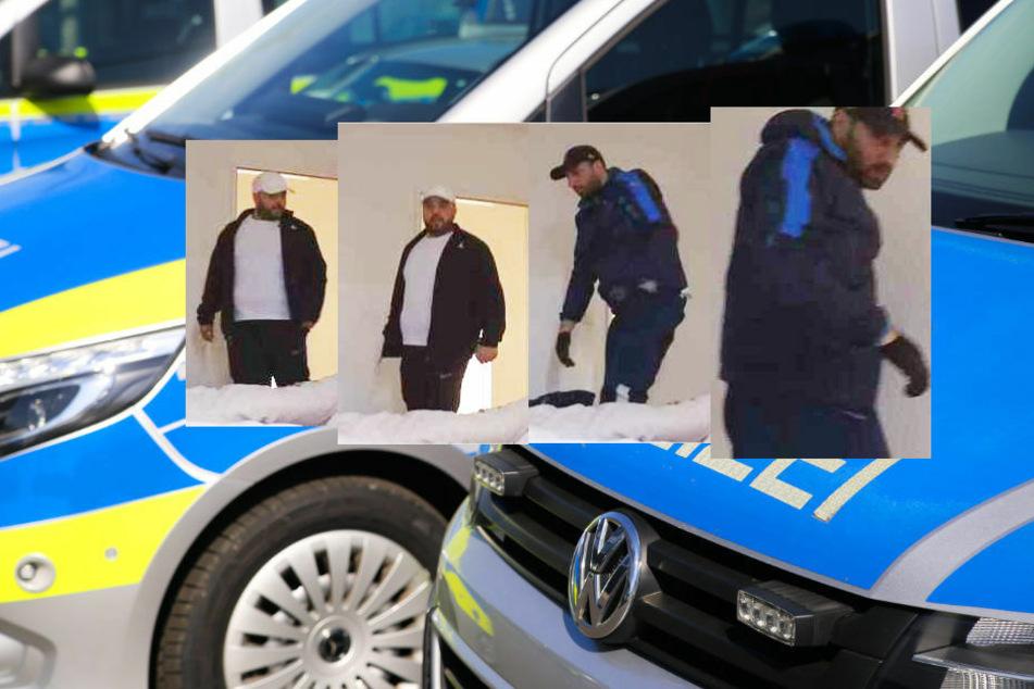 Polizei sucht mutmaßliche Einbrecher mit Überwachungsfotos