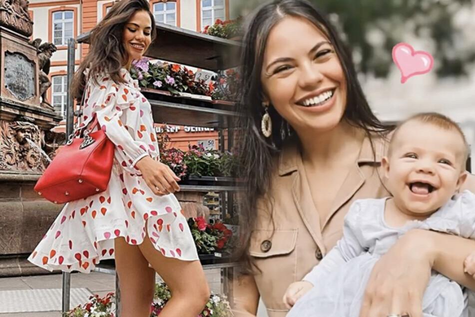 Auf einem aktuellen Mama-Tochter-Foto lächeln Bruna und Violetta um die Wette.