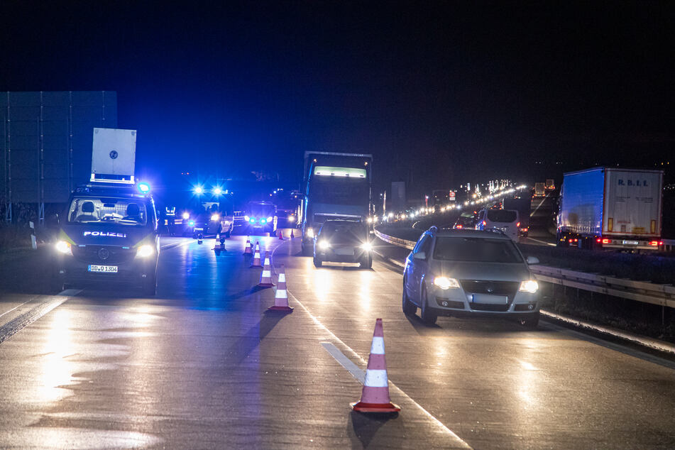 Durch den Unfall bildete sich Stau auf der A72.