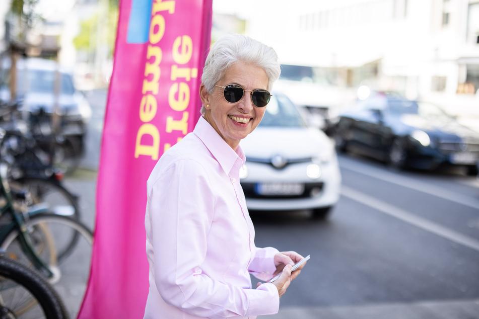 Marie-Agnes Strack-Zimmermann (FDP), Bundestagsabgeordnete und Oberbürgermeister-Kandidatin in Düsseldorf.