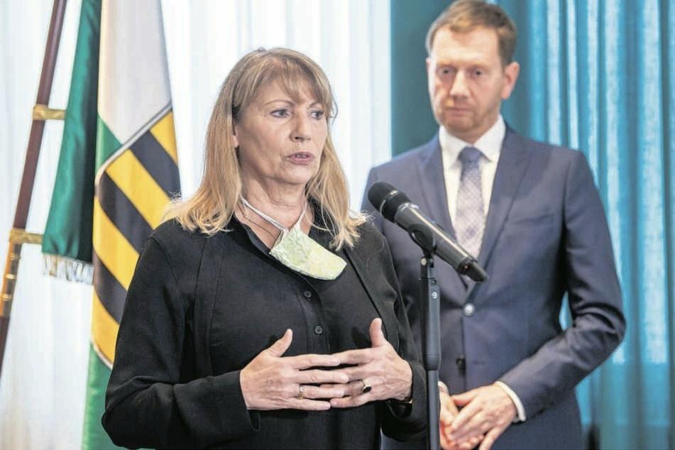 Verschärfte Regeln: Gesundheitsministerin Petra Köpping (62, SPD) gibt heute die neue Corona-Schutzverordnung für Sachsen bekannt.