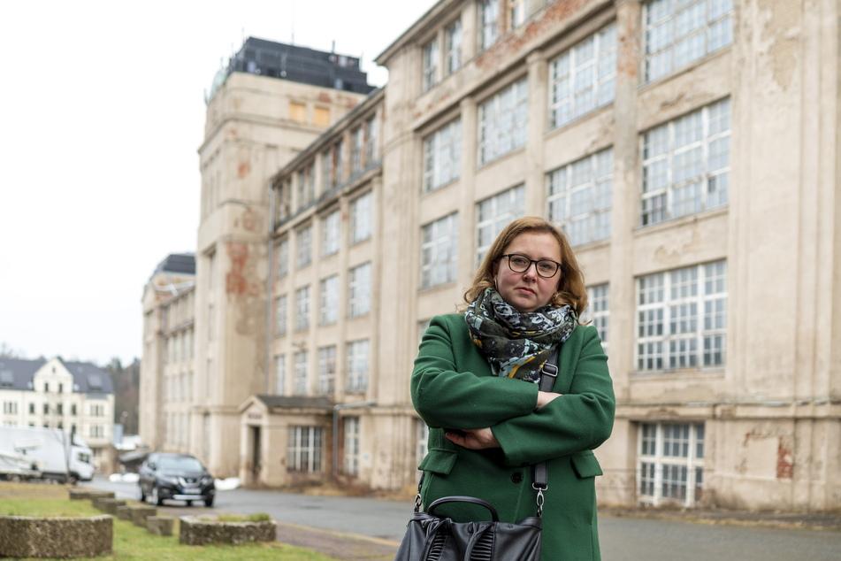 CDU-Ratsfrau Solveig Kempe (40) kämpft für die Wiederbelebung der Wanderer-Werke.