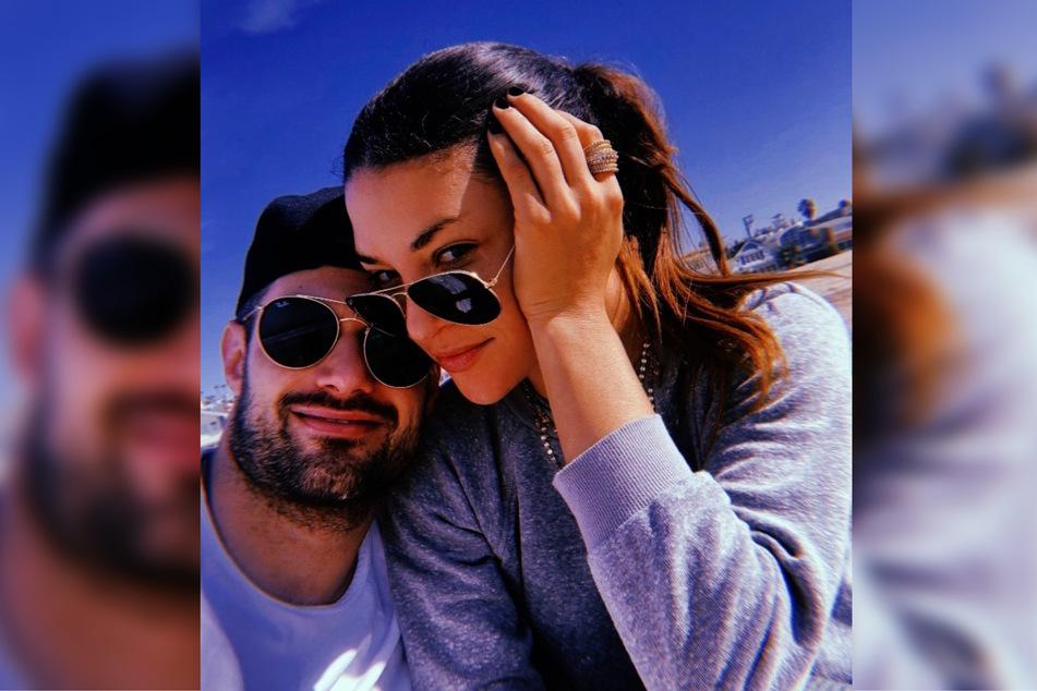 Hockeyspieler Brad Richardson (35, l.) und Schauspielerin Jessica Szohr (35, r.) erwarten ihr erstes Kind. (Montage)