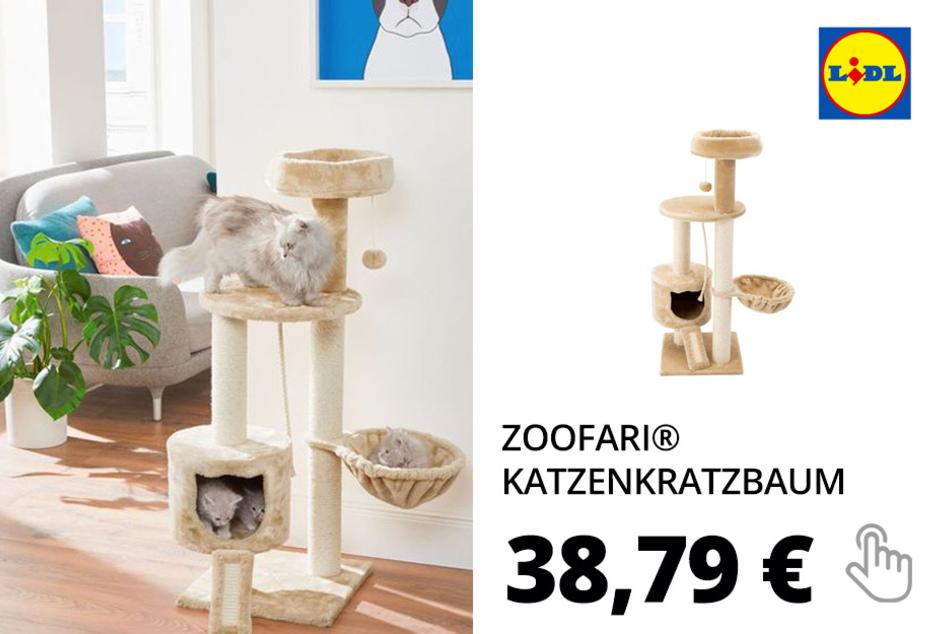 ZOOFARI® Katzenkratzbaum, mit Hängematte, aus Sisal und Plüsch