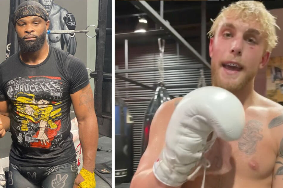 Tyron Woodley (l.) is set to take on Jake Paul (r.) in the boxing ring on August 28.