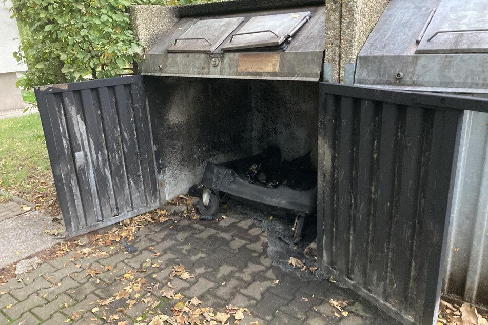Schon wieder! Mülltonnen in Chemnitz abgefackelt