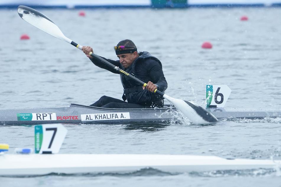 Sowohl mit dem Kajak als auch im Va'a - einem Auslegerkanu nach dem Vorbild von auf Tahiti genutzten Booten - ist Anas Al Khalifa (28) Letzter im Vorlauf geworden.