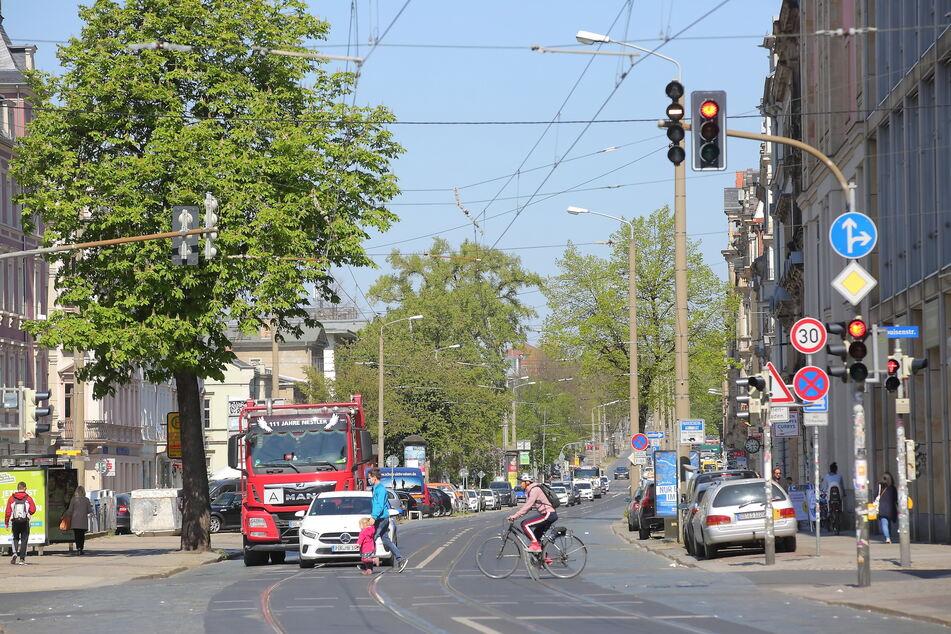 Einfach so gebaut werden könnte die Königsbrücker Straße aktuell nicht. Allerdings sind die Planungen auch noch nicht so weit.