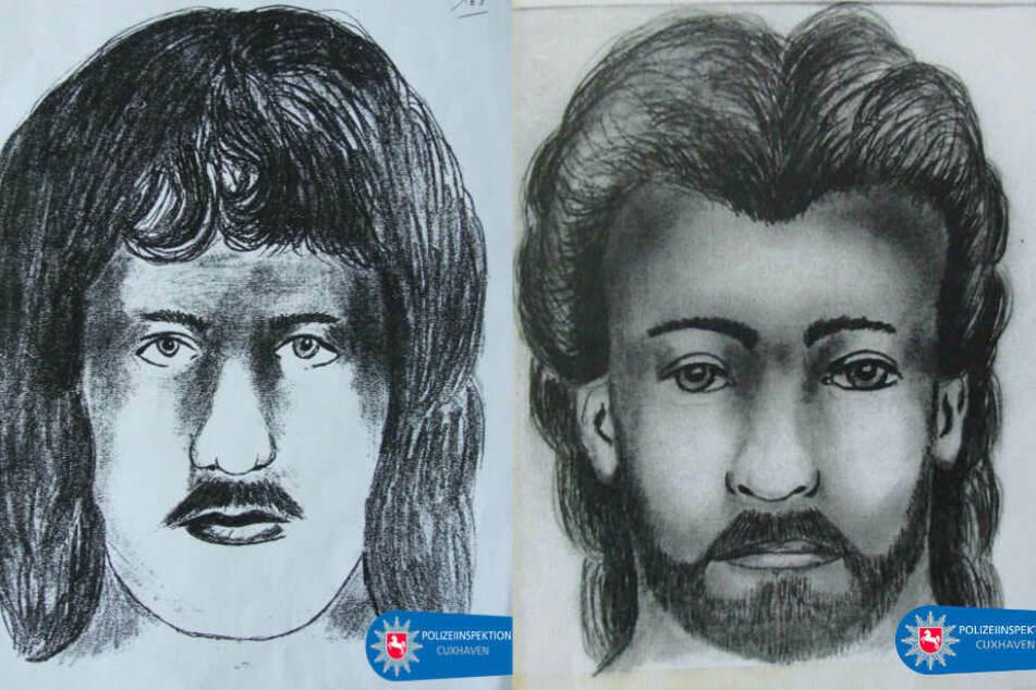 Das linke Phantombild zeigt den Verdächtigen von 1992, das rechte den von 1993. (Fotomontage)