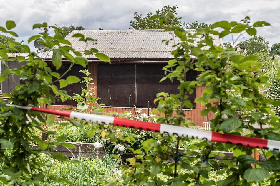 Die inzwischen abgerissene Gartenlaube ist einer der Tatorte im Missbrauchskomplex von Münster. (Archivfoto)