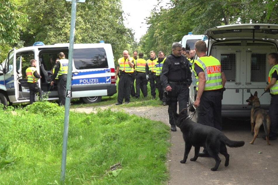 Häftling auf der Flucht: Leipziger Polizei fahndet mit Hubschrauber und Spürhunden