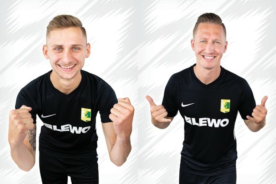 Florian Kirstein (24, l.) und Florian Schmidt (30) bleiben noch ein Jahr in Leipzig.
