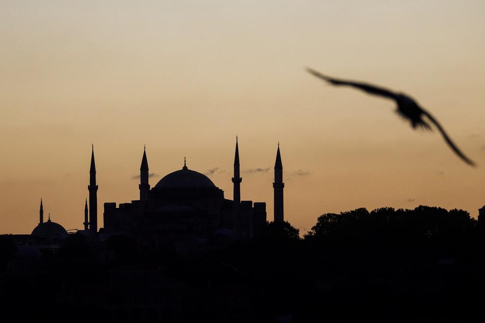 Blick auf die Hagia Sophia in Istanbul.