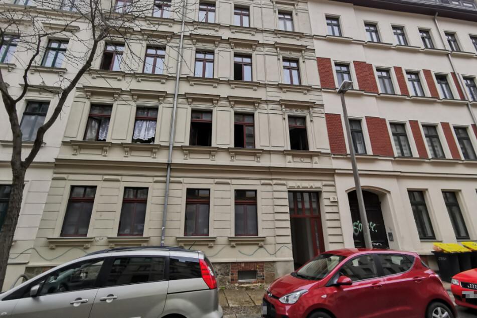 Das betroffene Haus Ludwigstraße 75. In einer Wohnung im ersten Obergeschoss war am Mittwoch ein Feuer ausgebrochen.
