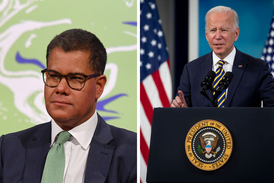 COP26 President Alok Sharma (l.) warned that world leaders must deliver on their promises to curb dangerous climate change at the upcoming talks in Glasgow, which will be attended by President Joe Biden (r.).