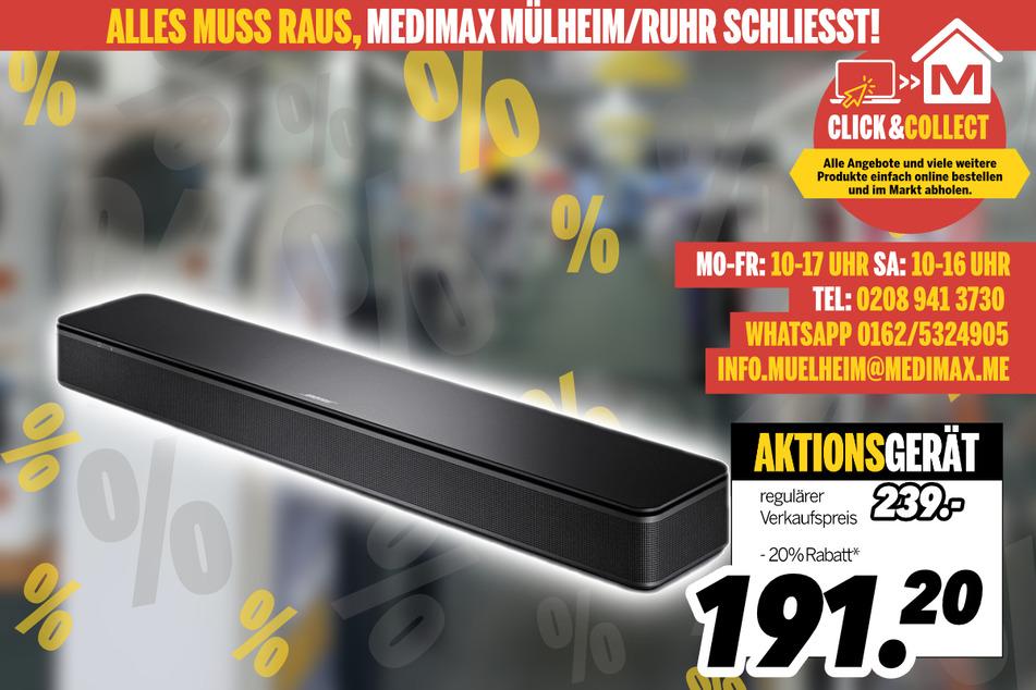 Soundbar von Bose für 191,20 Euro