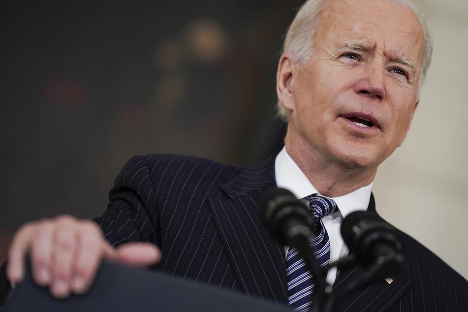Der US-Präsident Joe Biden (78) bei seiner Rede zu den großartigen Impf-Fortschritten in den Vereinigten Staaten.