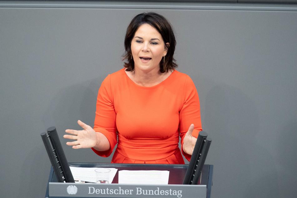 Die Grünen-Kanzlerkandidatin Annalena Baerbock (40).