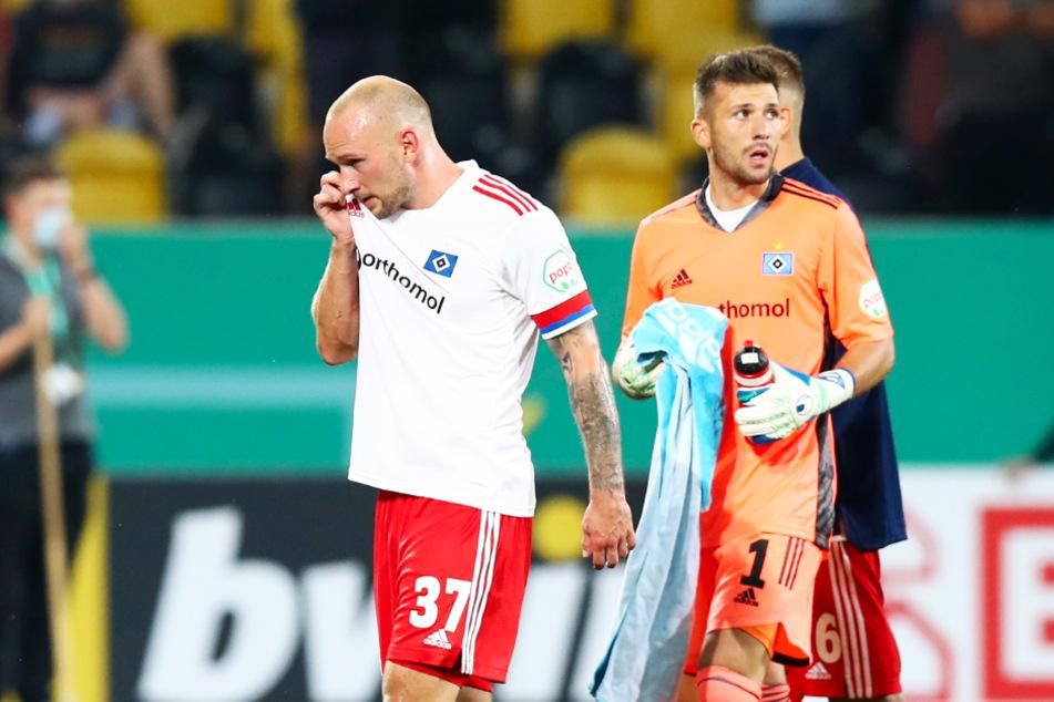Für HSV-Neuzugang Toni Leistner (l.) war die Rückkehr alles andere als schön.