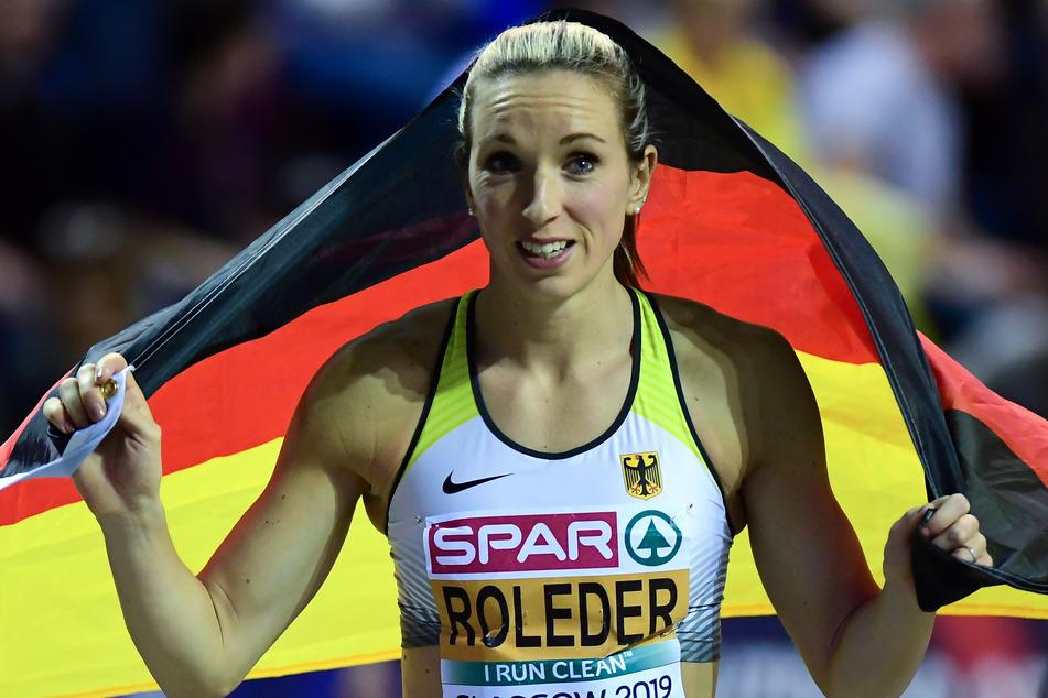 Cindy Roleder (30), hier bei der Leichtathletik-EM in Großbritannien, erwartet ihr erstes Kind (Archivbild).