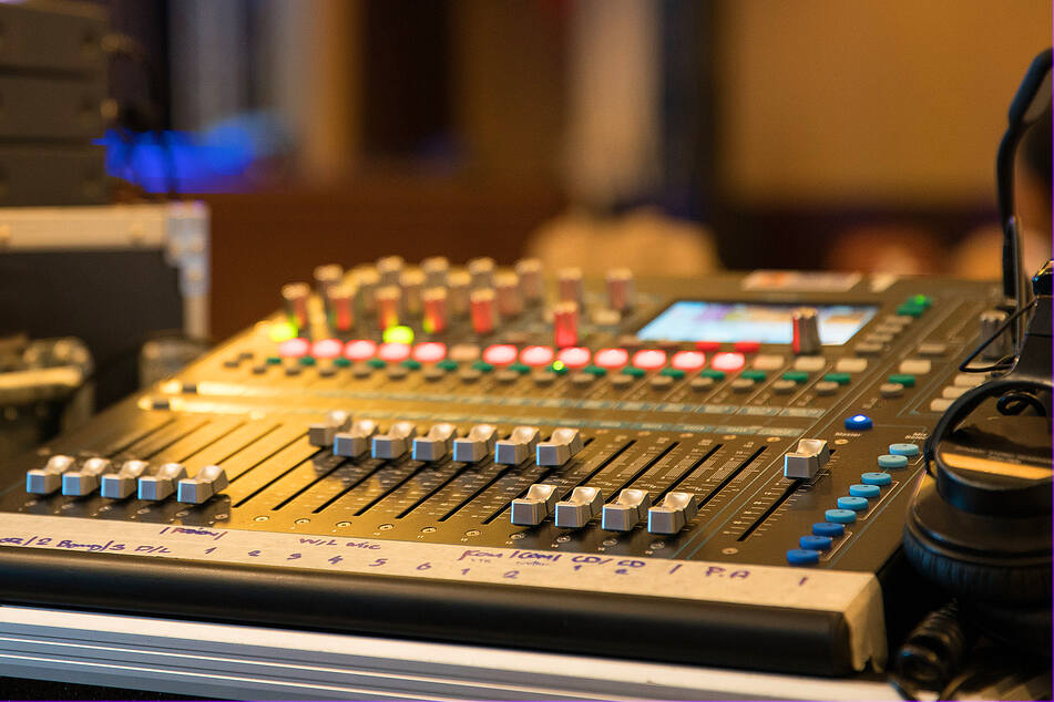 A modern mixer for production work. (stock image)