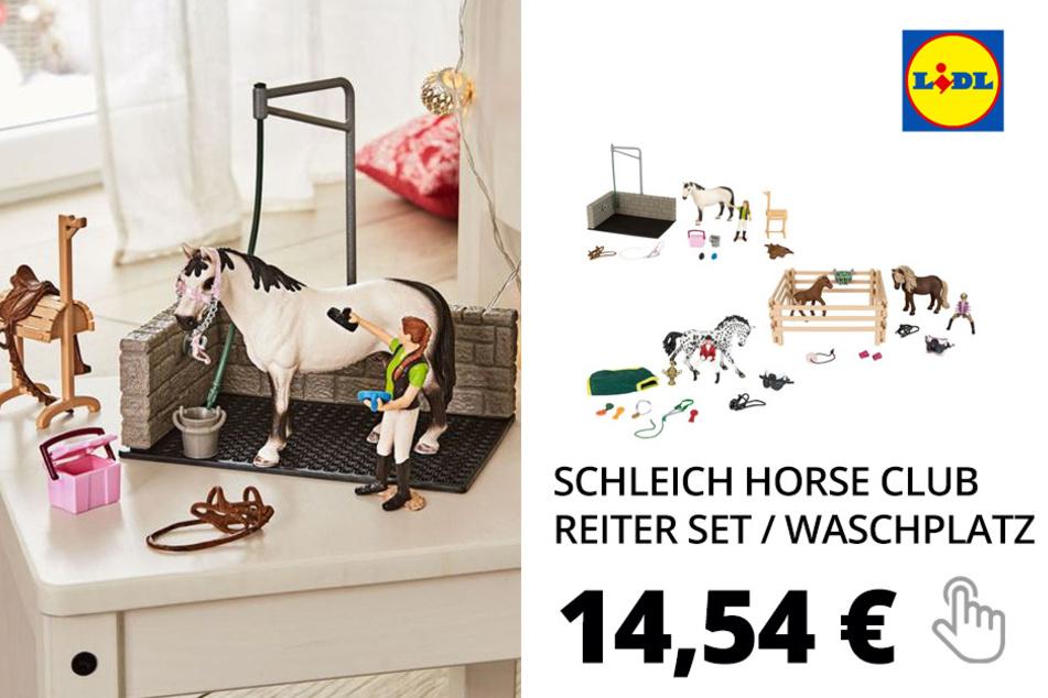 Schleich Horse Club Reiter Set / Waschplatz