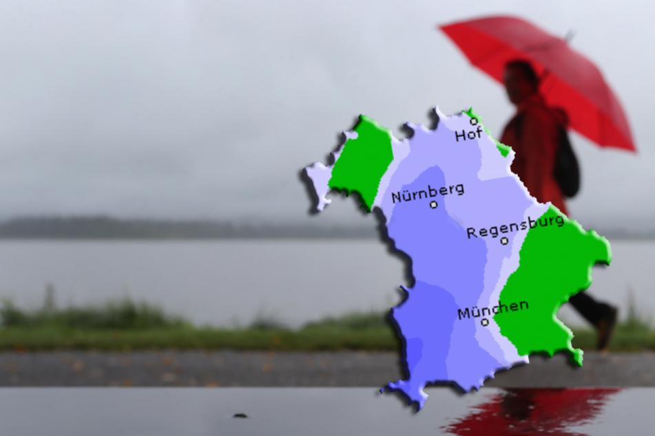Das Sommer-Outfit darf in den Schrank: Regen und Gewitter im Freistaat