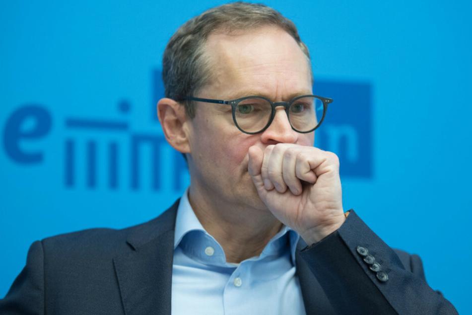 Michael Müller (SPD) äußert sich auf einer Pressekonferenz zu den Folgen des Coronavirus.