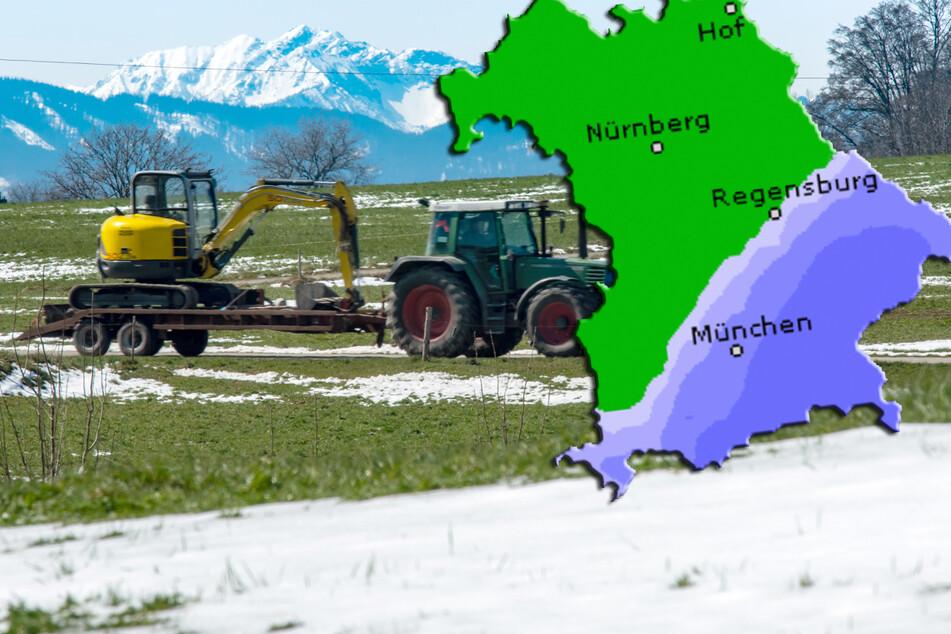 Aprilwetter in Bayern: Etwas Sonne, Gewitter und bis zu 30cm Neuschnee