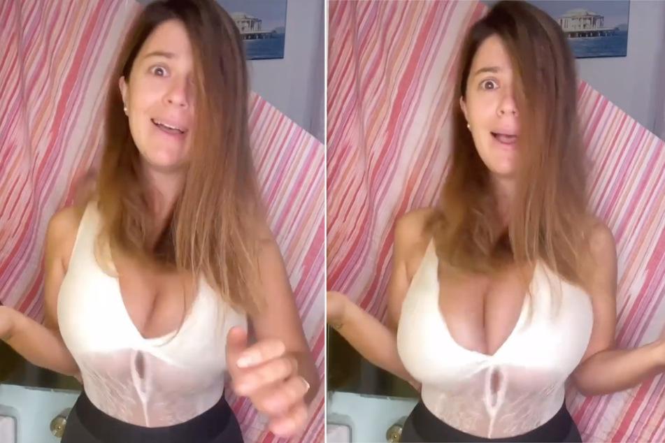 Was ist da denn los? Brüste von Instagram-Star spielen verrückt