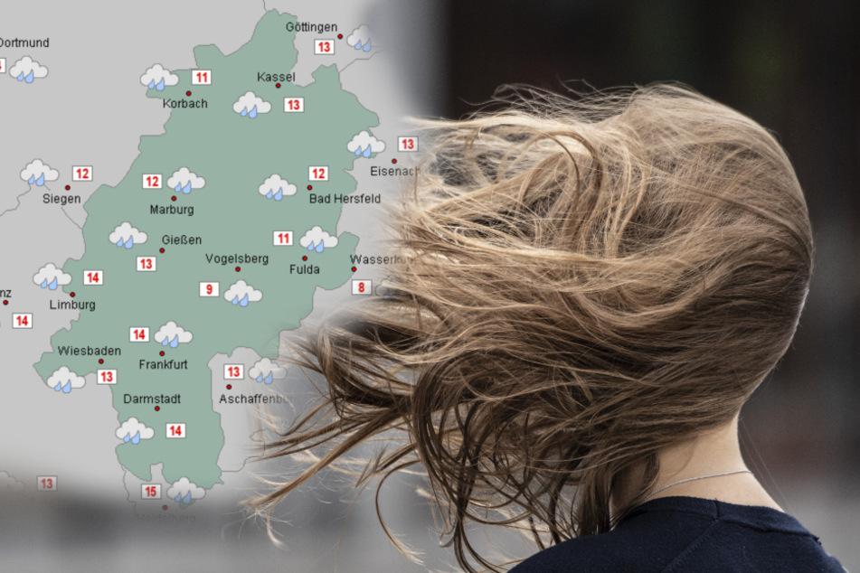 """Wetter bleibt ungemütlich: """"Brigitte"""" hat Hessen im Griff"""