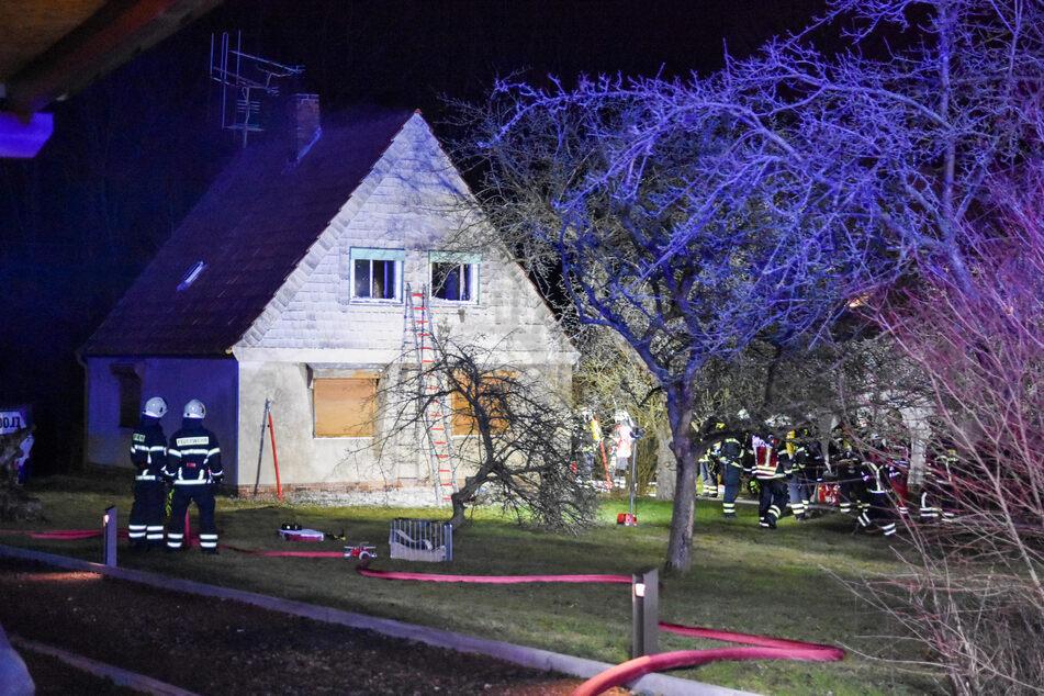 Erzgebirge: Einfamilienhaus nach Brand unbewohnbar