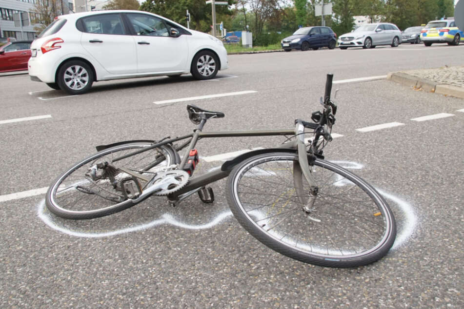 Mit diesem Fahrrad ist der Mann gestürzt.