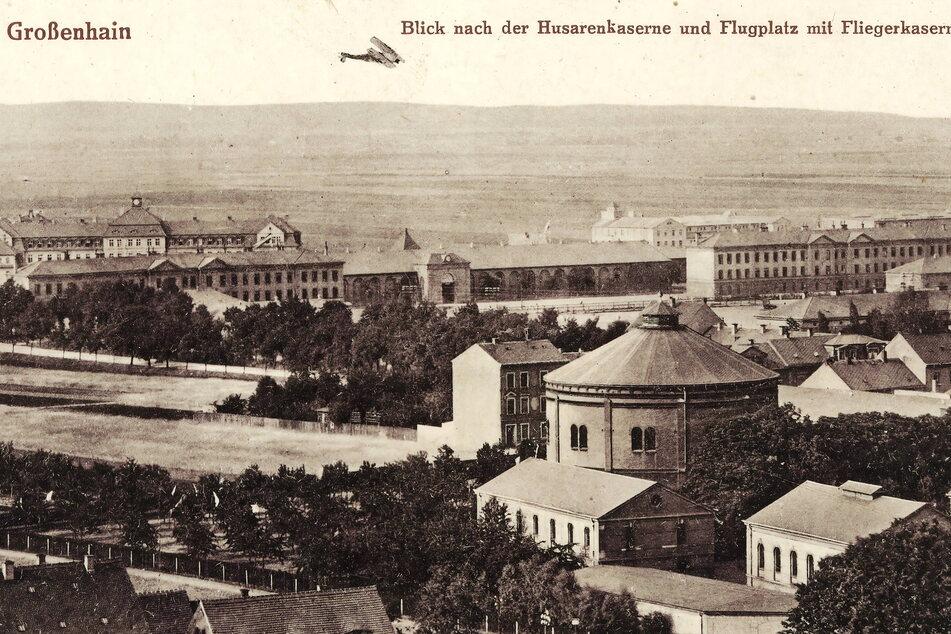 Historisch: Das Großenhainer Flughafengelände um 1915.