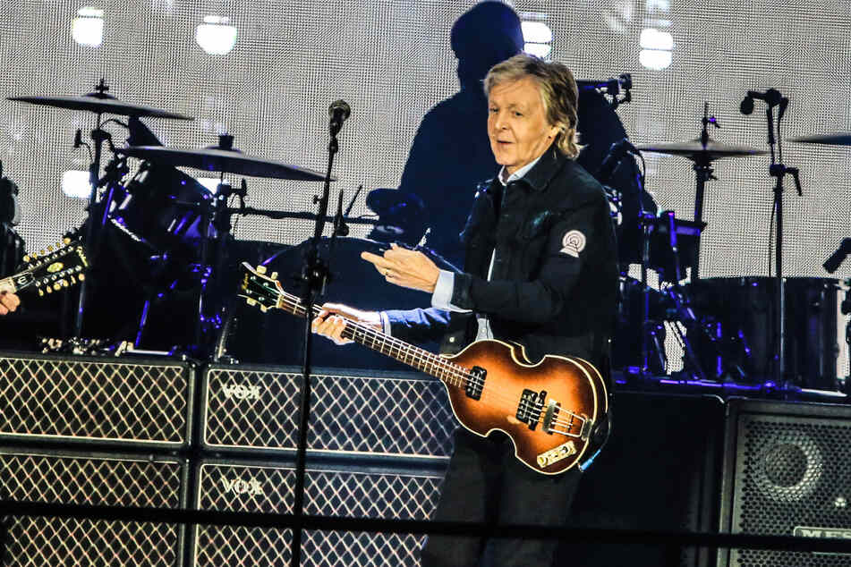 Sänger Paul McCartney bei einer Aufführung seiner Show in Brasilien im Jahr 2019.