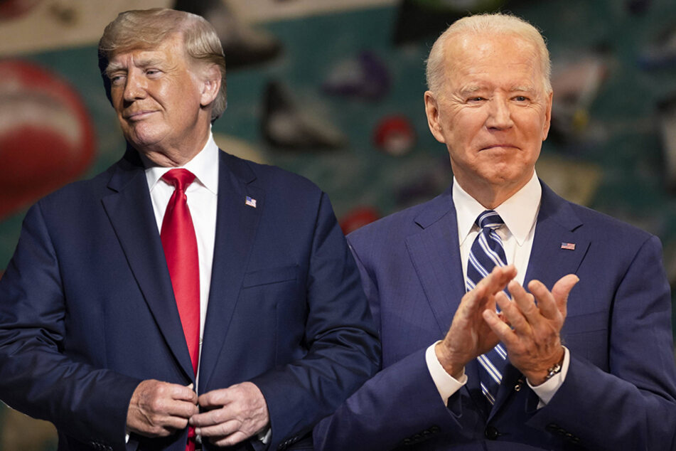 Former president Donald J. Trump (l.) had brokered a deal that would give the US some control over TikTok, but the Biden administration disagreed with its language.