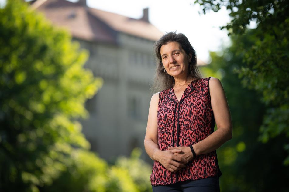 Ulrike Hantsche setzt sich mit dem Förderverein für den Erhalt des Schlosses und die Schaffung eines Museums ein.