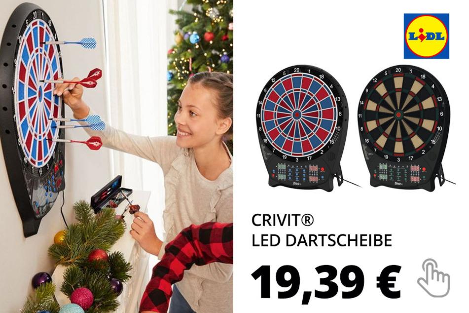 CRIVIT® LED Dartscheibe, mit Zubehör