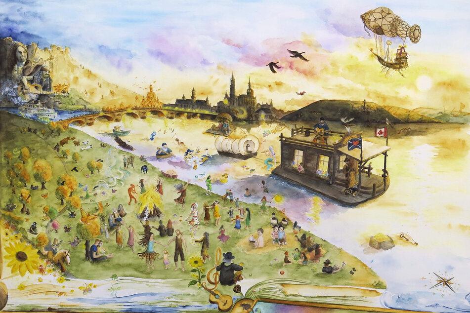 Das Abenteuer Hausboot inspiriert auch Zeichner.