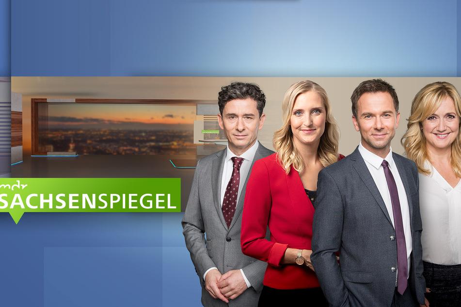 Das gesamte Moderatoren-Team des Sachsenspiegels beim MDR freut sich über das neue Design (v. l.: Andreas F. Rook (55), Gesine Schöps (34), Tino Böttcher (38), Anja Koebel (53).