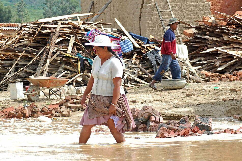 Klimaphänomen La Niña sorgt weltweit für außergewöhnliche Wetterlagen. So wie hier bei Überschwemmungen in Bolivien im Jahr 2008.