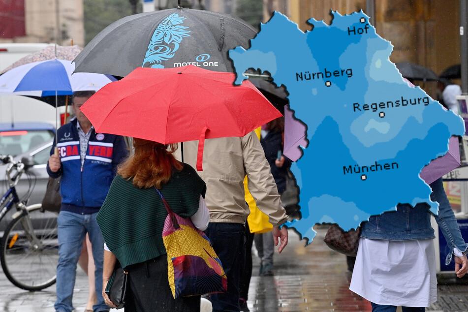 Wolken und Regen am Sonntag vermasseln auch den Wochenstart in Bayern